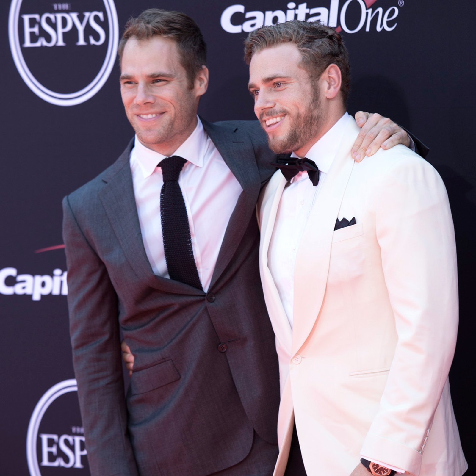 Olympic skier Gus Kenworthy, right, and his partner Matthew Wilkas.