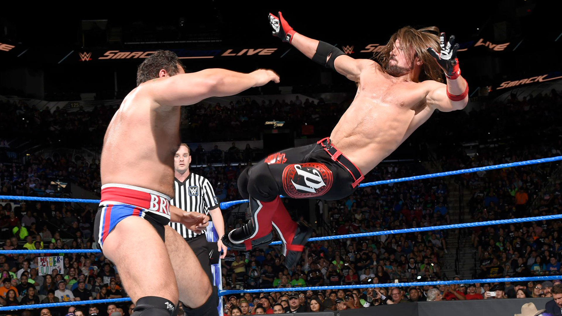 ... but Styles counters with a swift kick!