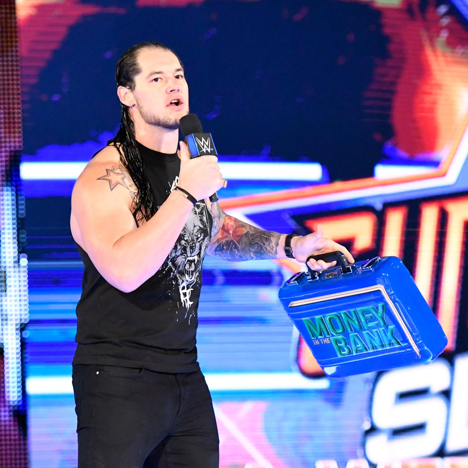 Suddenly, Cena is interrupted by Baron Corbin, who brawled with The Leader of The Cenation after SmackDown LIVE last week, exclusively on WWE Network.
