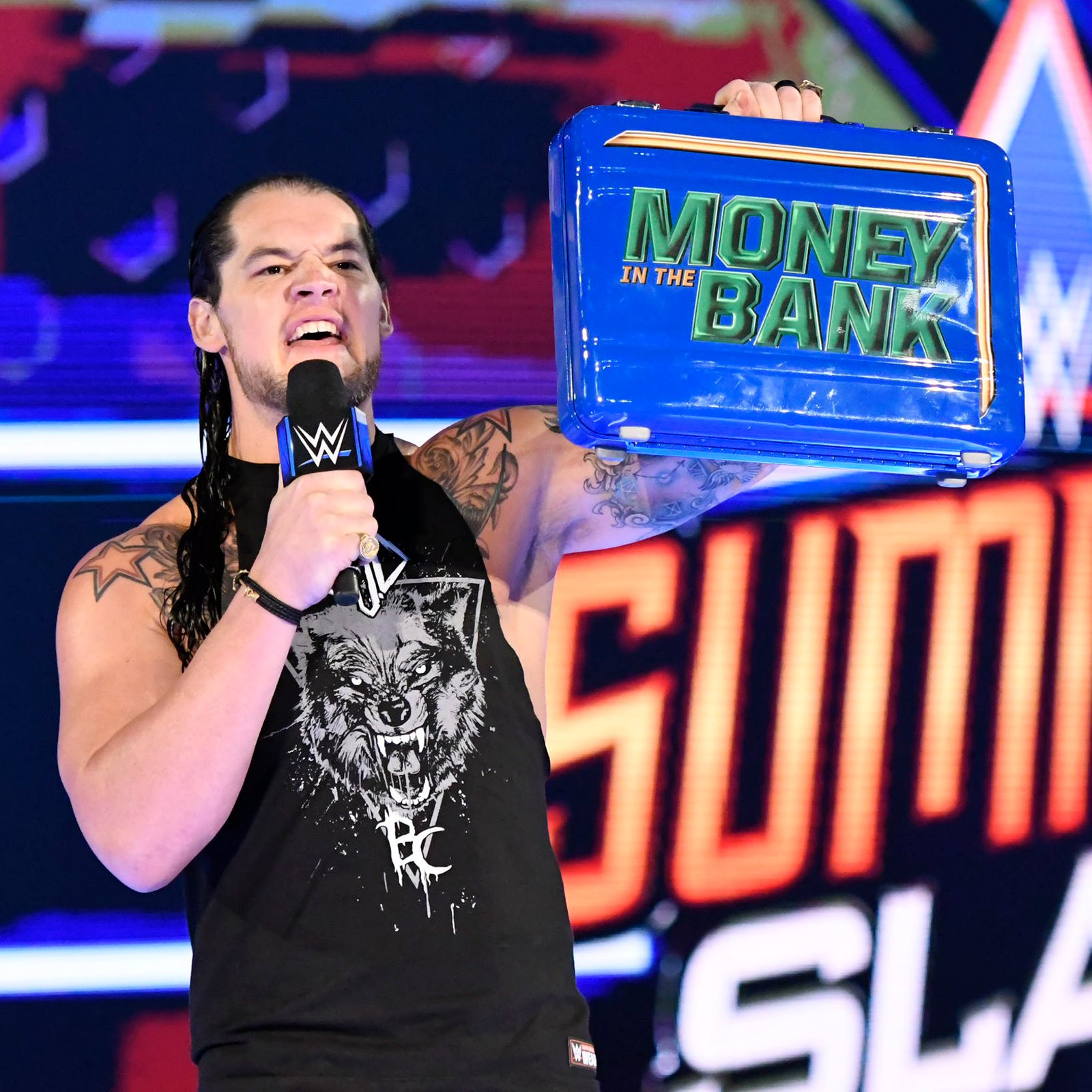 ... but The Lone Wolf reminds Cena that he is Mr. Money in the Bank and says the 16-time World Champion doesn't have anything he wants.