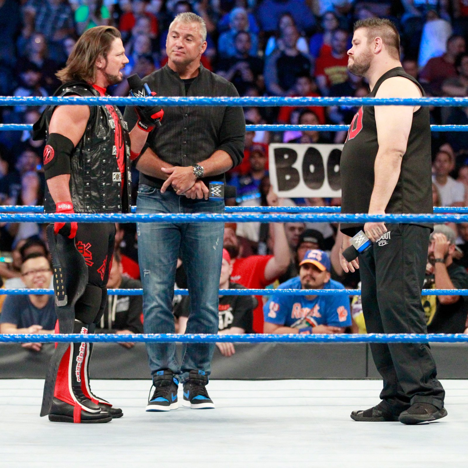 Styles suggests they have their U.S. Championship Match right here and now...