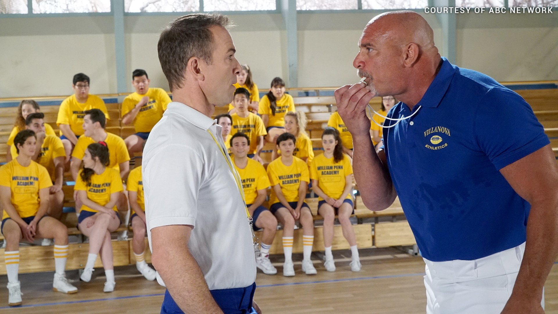 In the episode, Coach Nick arrives to confront his gym teacher brother, who's allowing Barry Goldberg (Troy Gentile) to torment younger brother Adam (Sean Giambrone) during gym class.