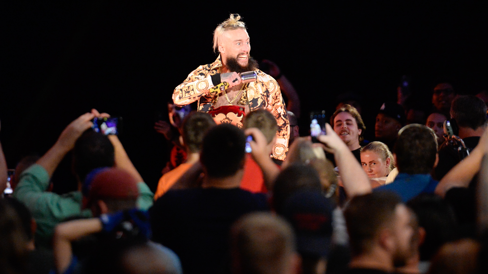 WWE Cruiserweight Champion Enzo Amore has a lot to say before defending his title in a Lumberjack Match against Kalisto.