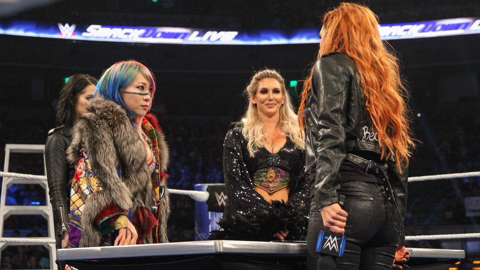 """The truth is, none of you could beat Ronda Rousey, and neither of you can beat me,"" Becky says."