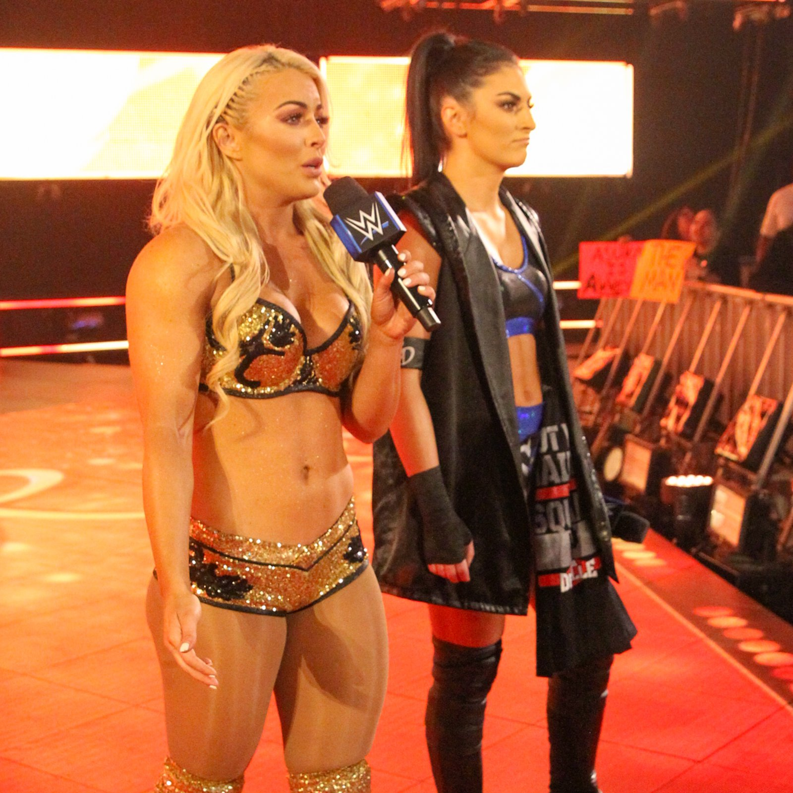 Suddenly, Mandy Rose and Sonya Deville hit the scene.