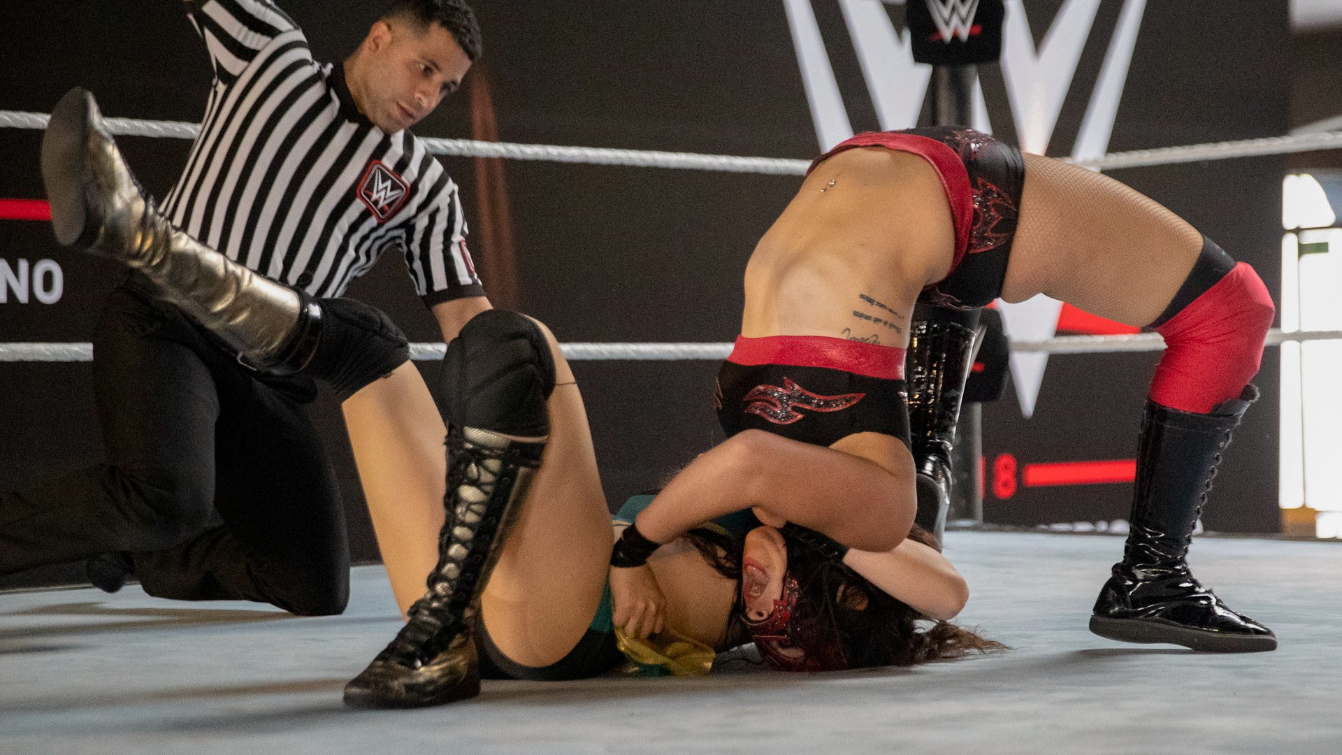 Luchadoras Lady Maravilla and Zatara kick off a session of exhibition matches.