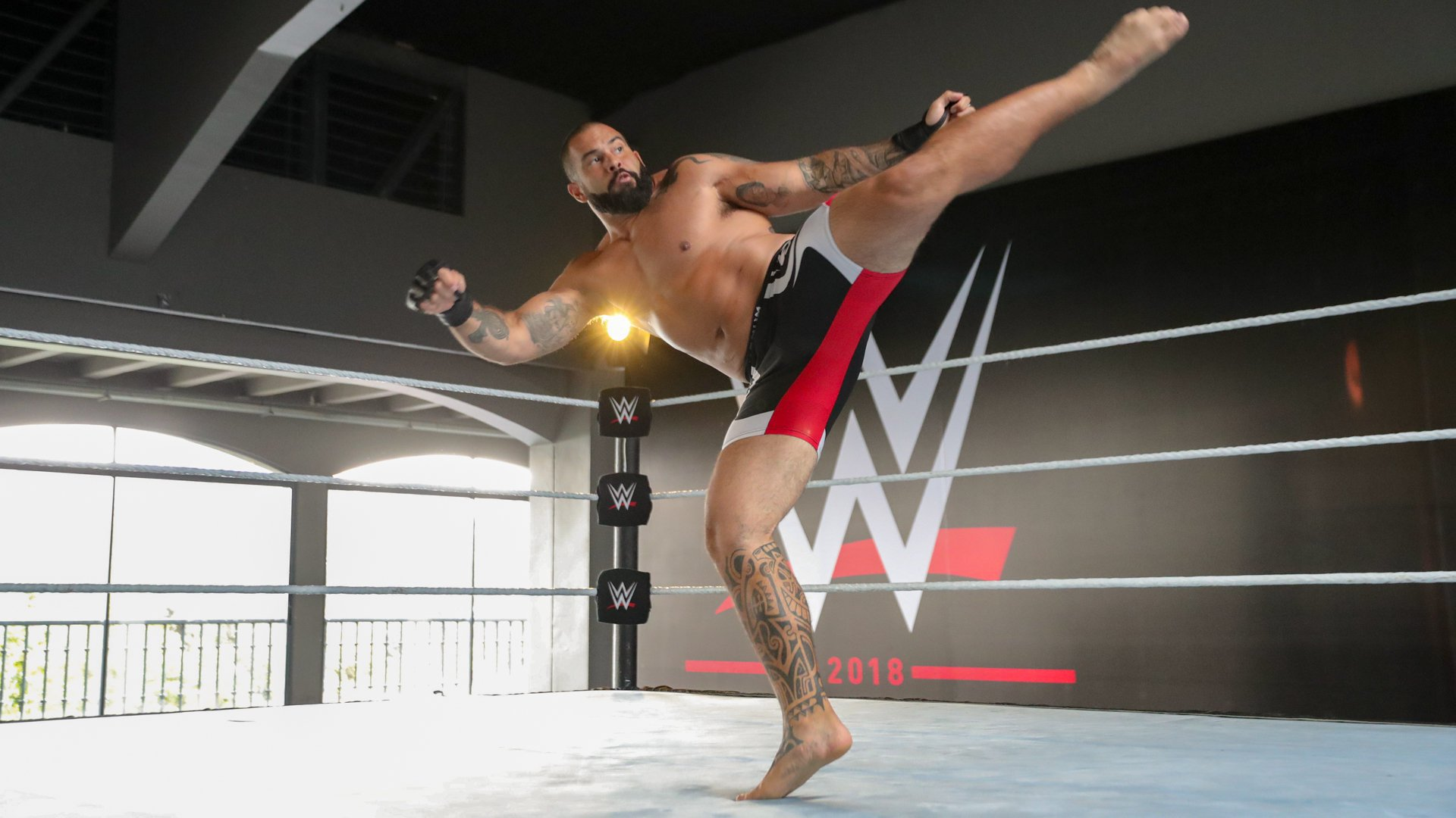 Brazilian MMA fighter Marcos Gomes shows his striking ability.