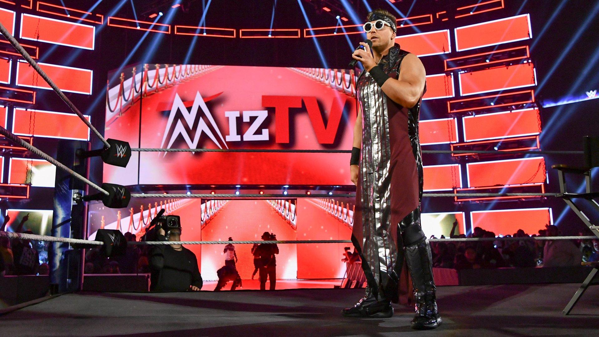 "... primed to host the latest episode of ""Miz TV."""