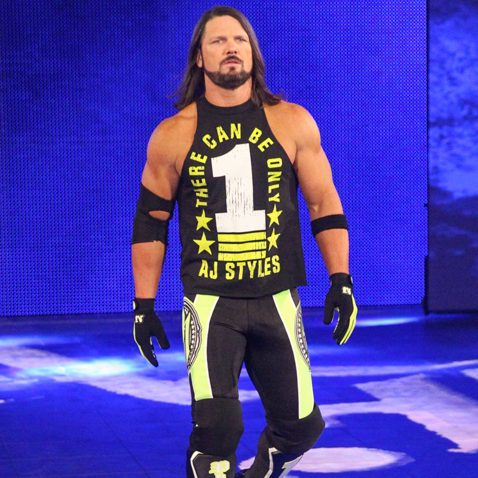 Suddenly, AJ Styles stalks to the ring!