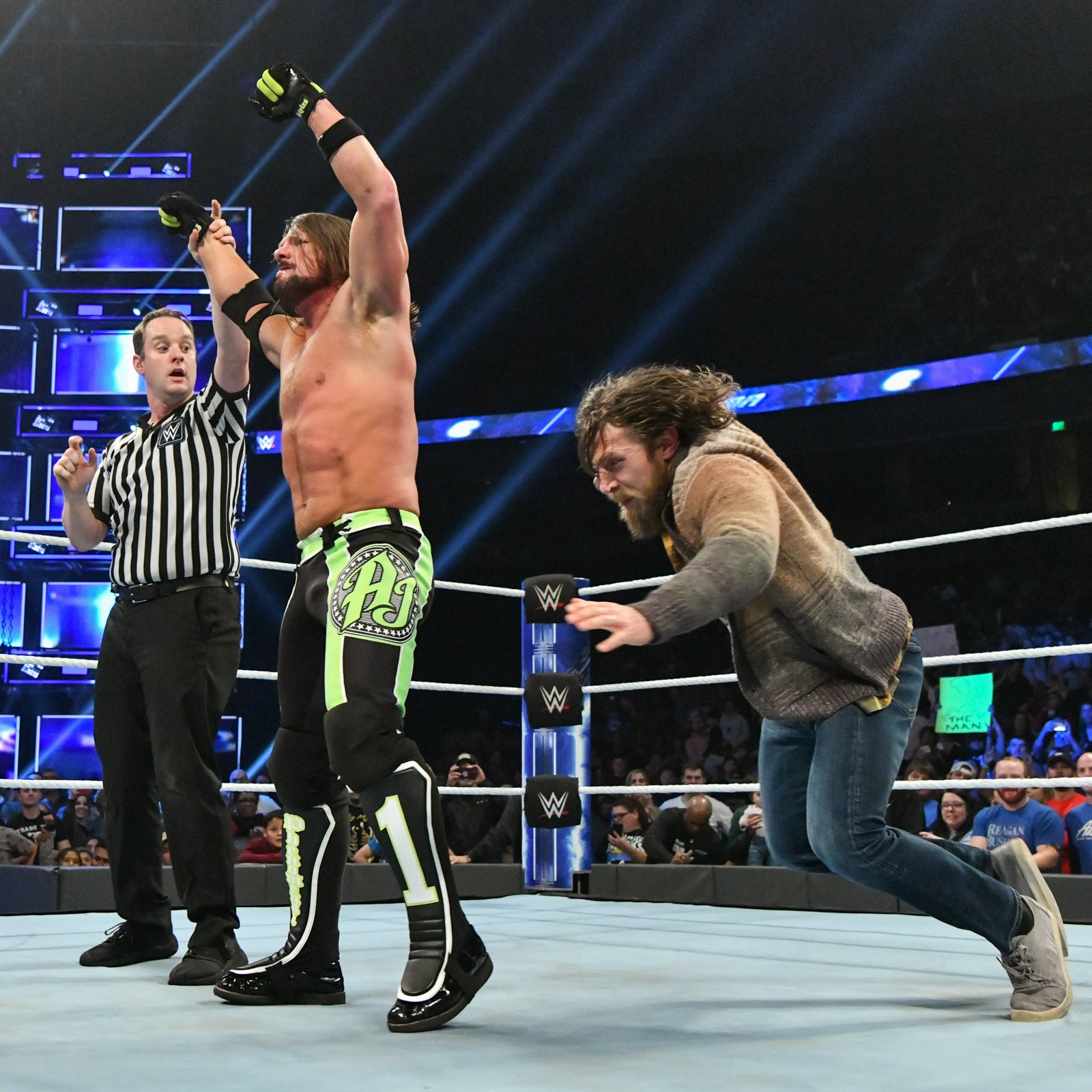 Bryan attacks Styles after the bout...