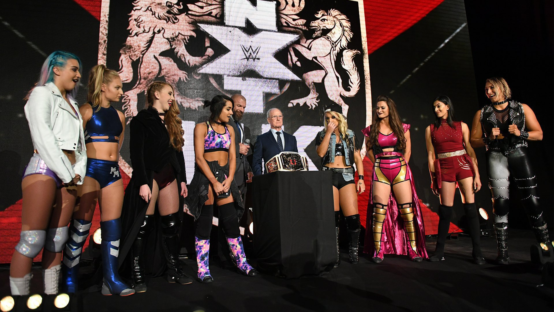 Prior to the announcement of TakeOver: Blackpool, WWE COO Triple H and Johnny Saint announce a historic tournament to crown the first-ever NXT UK Women's Champion, featuring the likes of Toni Storm, Rhea Ripley, Jinny, Isla Dawn, Millie McKenzie, Nina Samuels, Dakota Kai and Xia Brookside.