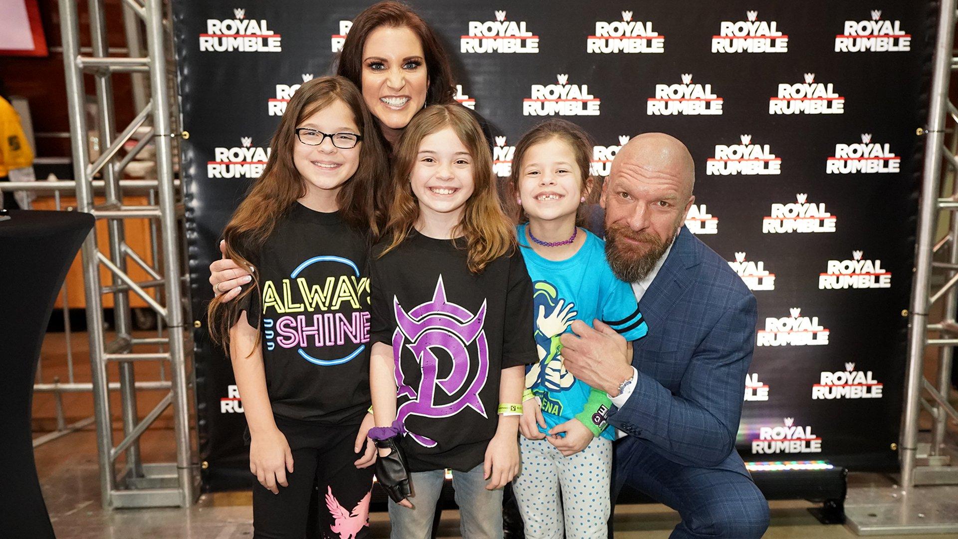 Triple H & Stephanie McMahon greet the WWE Universe at Royal Rumble Axxess: photos