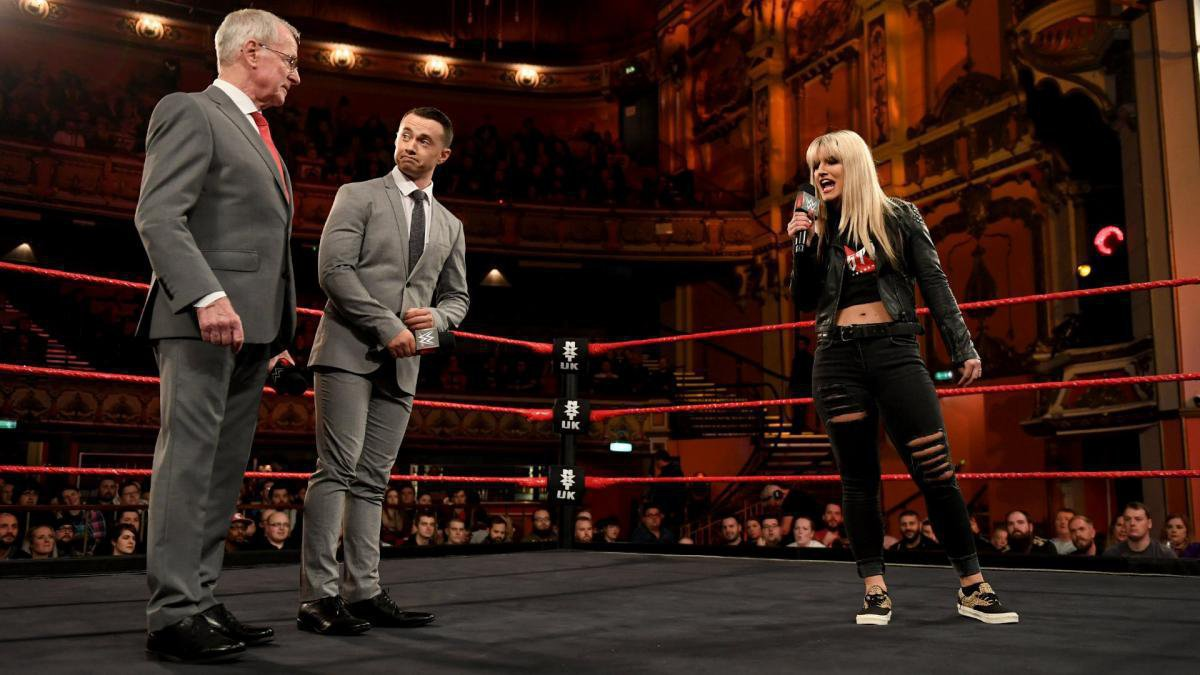 Weeks later, fresh off her victory in the 2018 Mae Young Classic, Storm returns to challenge Ripley for the NXT UK Women's Championship in a highly-anticipated rematch at TakeOver: Blackpool.