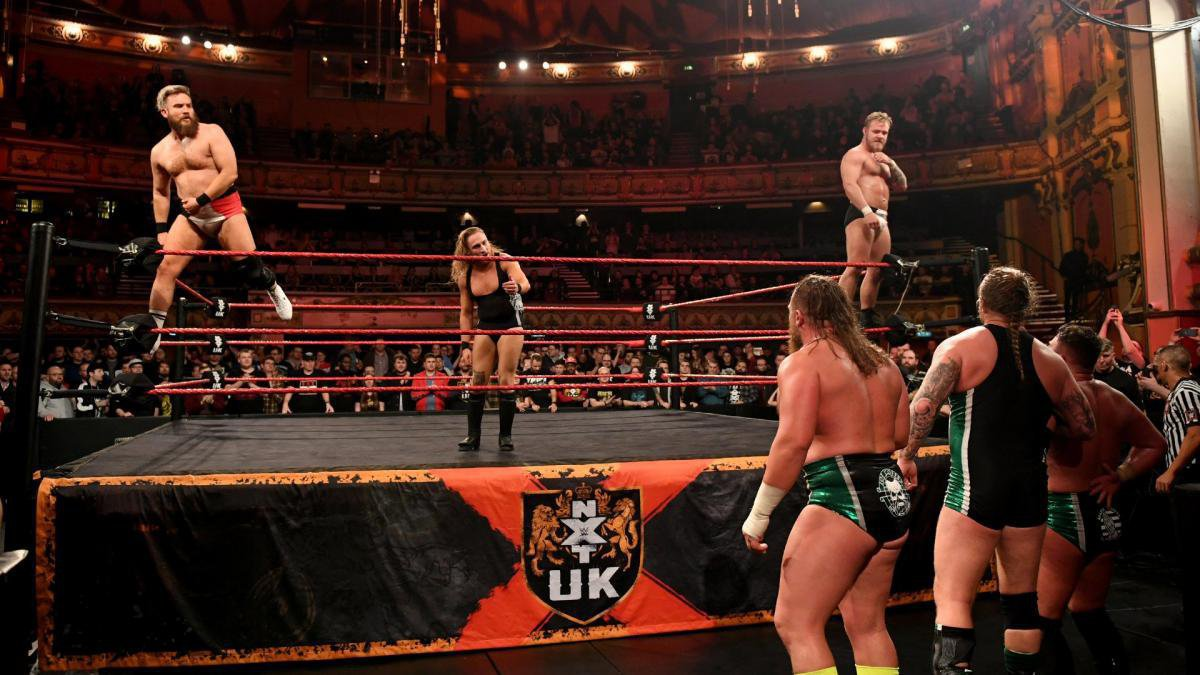 Moments later, Dunne reveals that he will put his title on the line against Joe Coffey at NXT UK TakeOver: Blackpool.