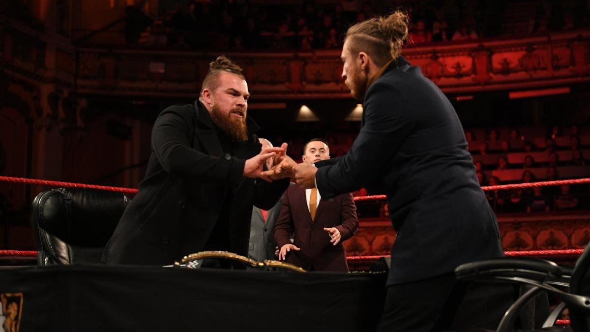 Order quickly breaks down in the subsequent Contract Signing between The BruiserWeight and The Iron King.