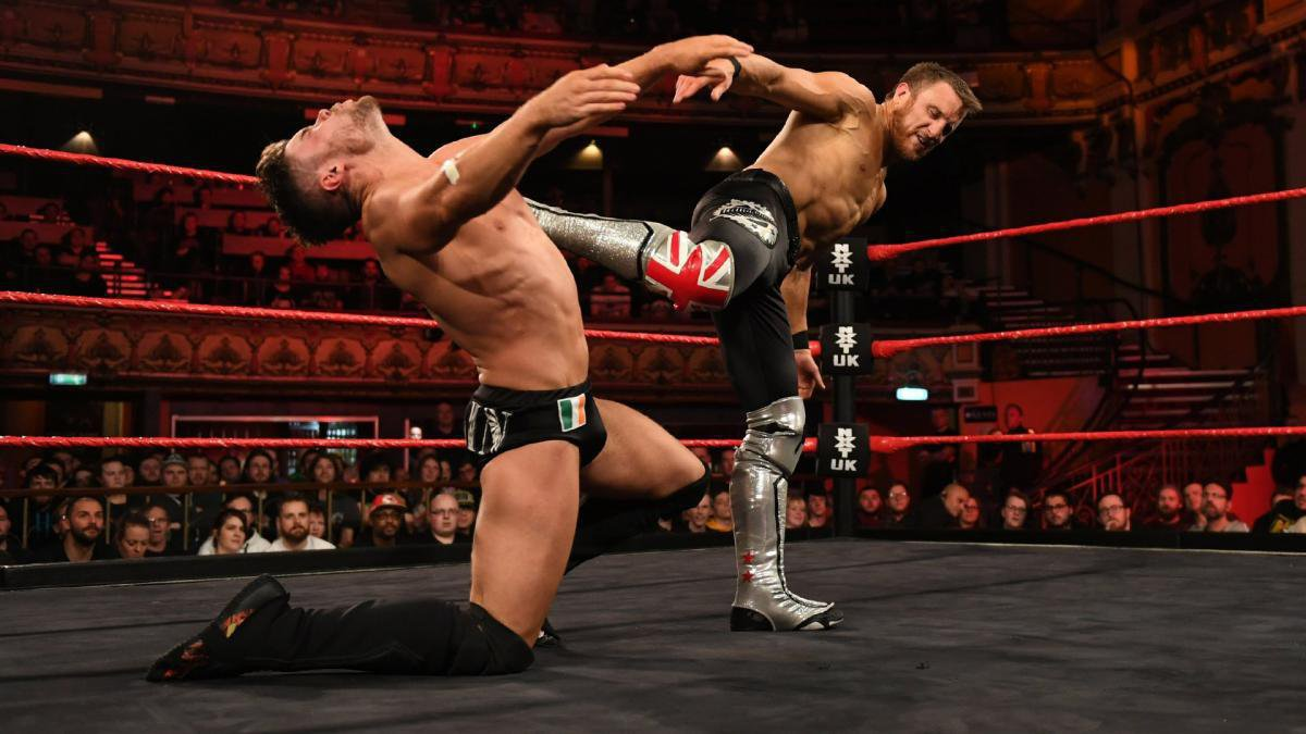 When the two come to blows, Johnny Saint decides they will settle things at NXT UK TakeOver: Blackpool as well.