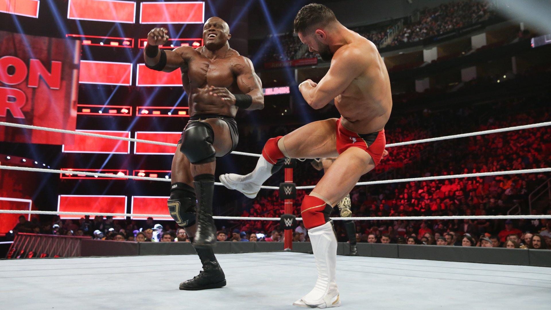 Bobby Lashley & Lio Rush vs. Finn Bálor - Match pour le Championnat: photos