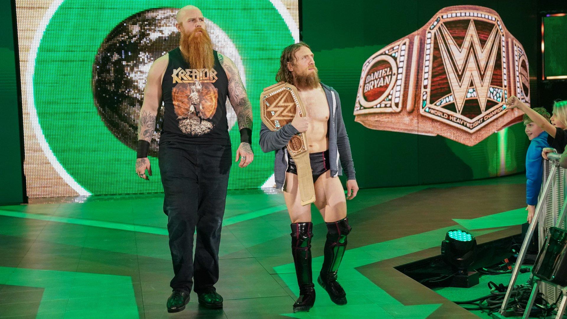 "WWE Champion ""The New"" Daniel Bryan and Rowan hit the squared circle."