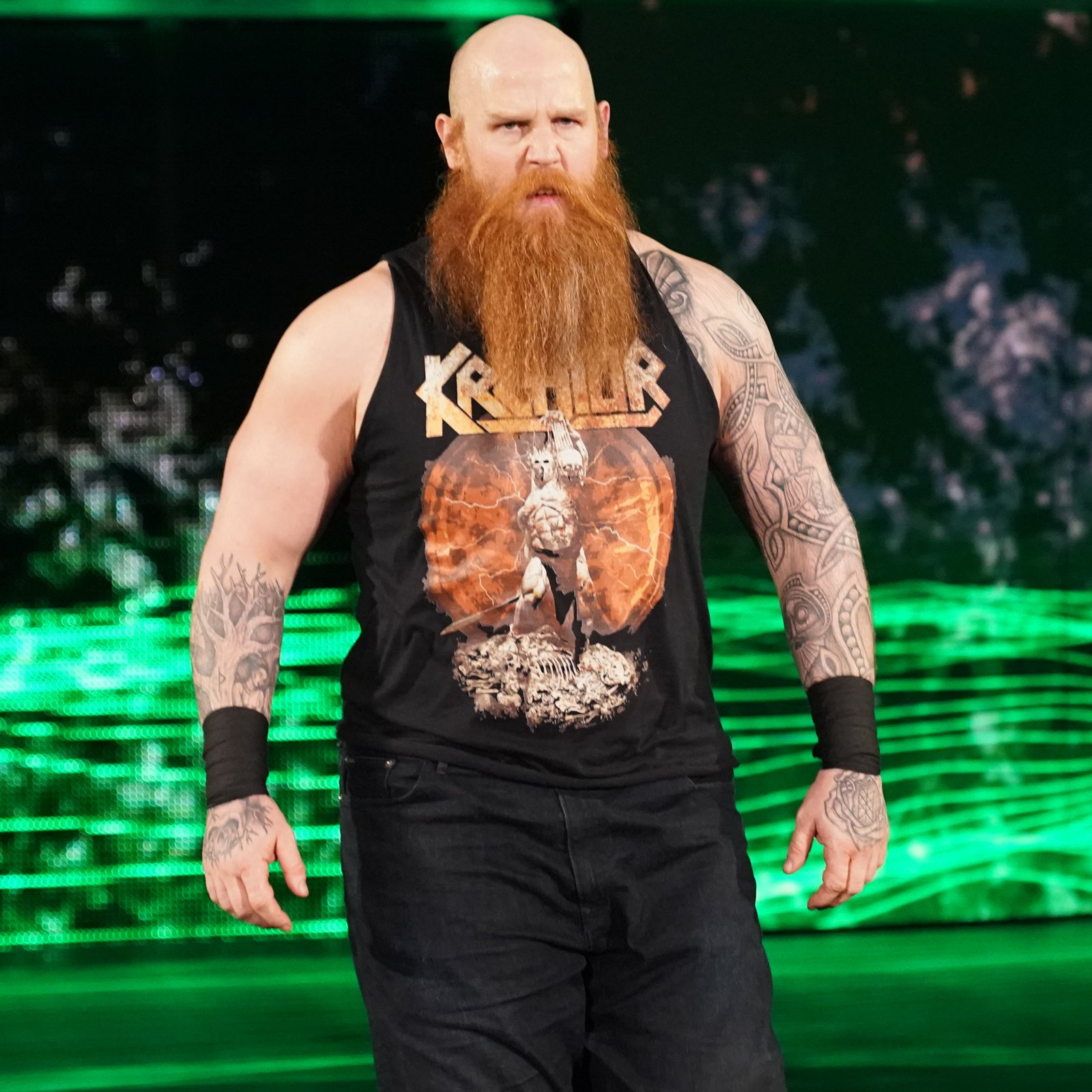 After The Dreadlocked Dynamo defeats The Swiss Cyborg, Rowan heads to the squared circle.