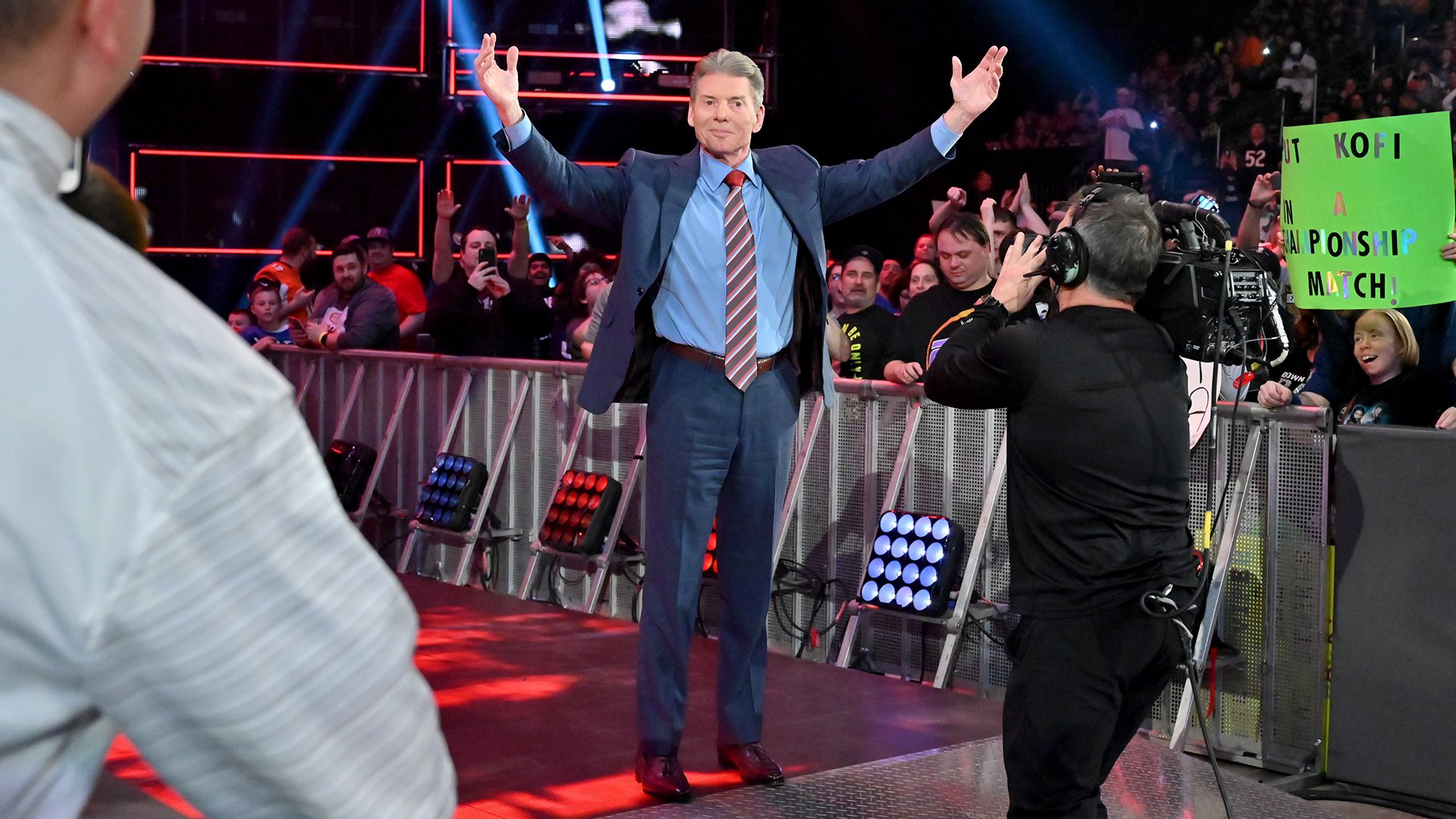 Two nights after forcing Kofi Kingston to compete in a Handicap Match against The Bar, Mr. McMahon hits the ring to address The Dreadlocked Dynamo's WWE Championship aspirations.