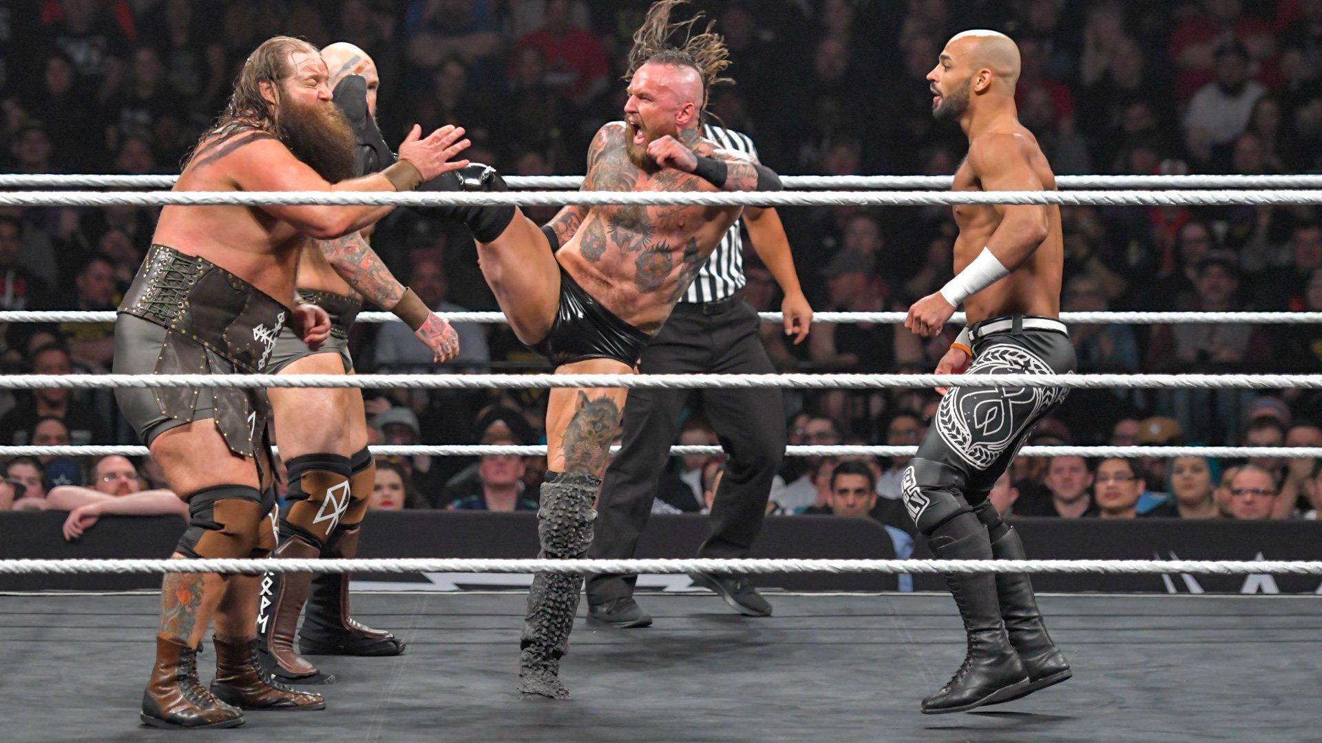 War Raiders vs. Aleister Black & Ricochet - NXT Tag Team Championship Match: photos