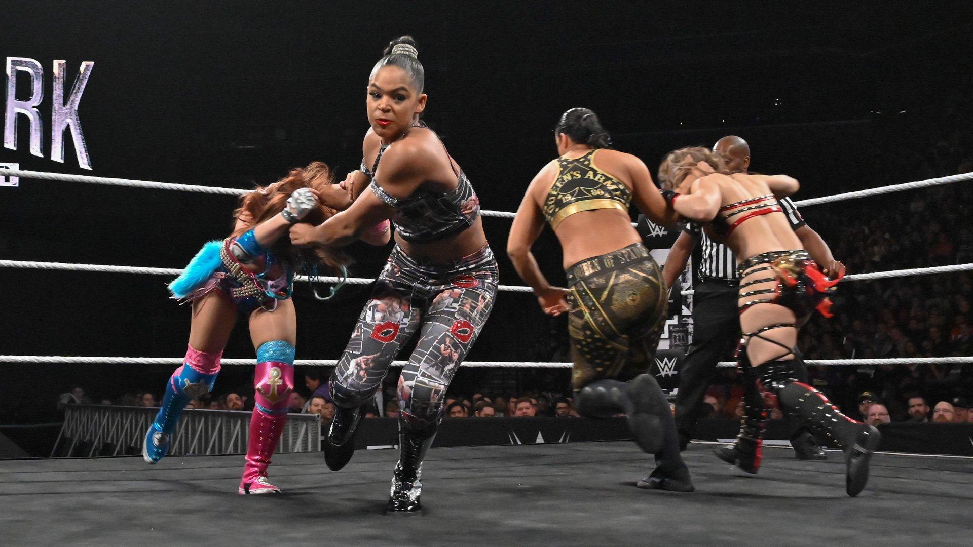 Kairi Sane vs. Io Shirai vs. Shayna Baszler vs. Bianca Belair - NXT Women's Title Fatal 4-Way Match: photos