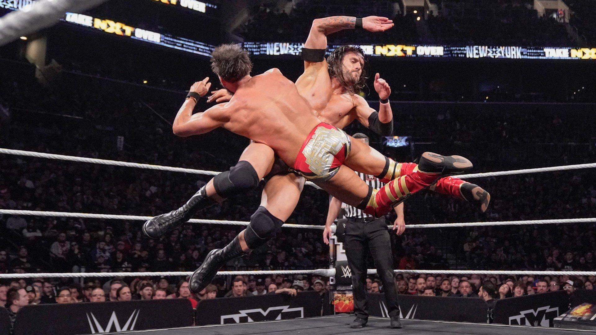 Johnny Gargano vs. Adam Cole - NXT Championship 2-out-of-3 Falls Match: photos