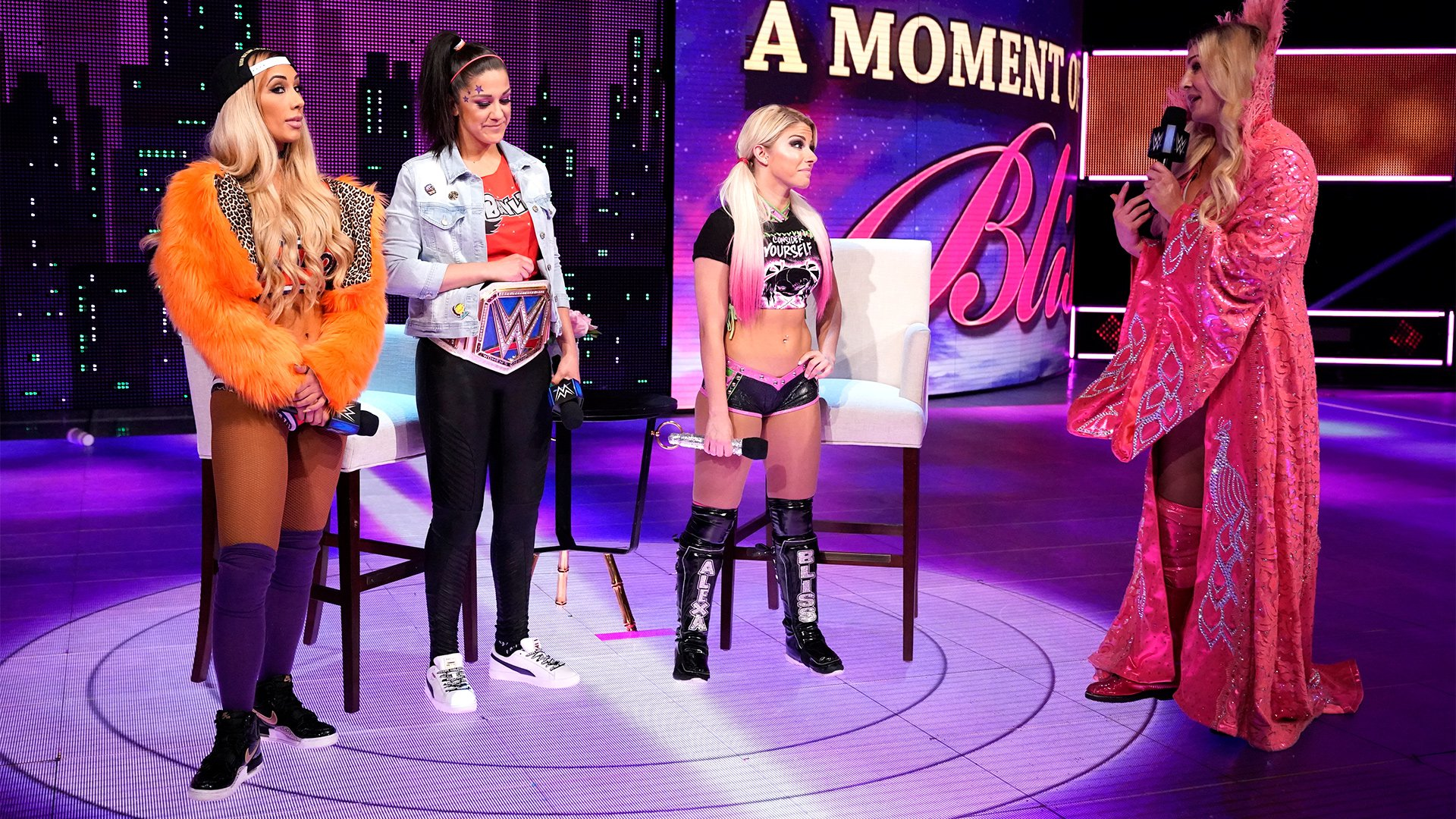 Flair discloses that Shane has told her that there will be a match tonight to determine Bayley's challenger: Bayley vs. Alexa vs. Charlotte!