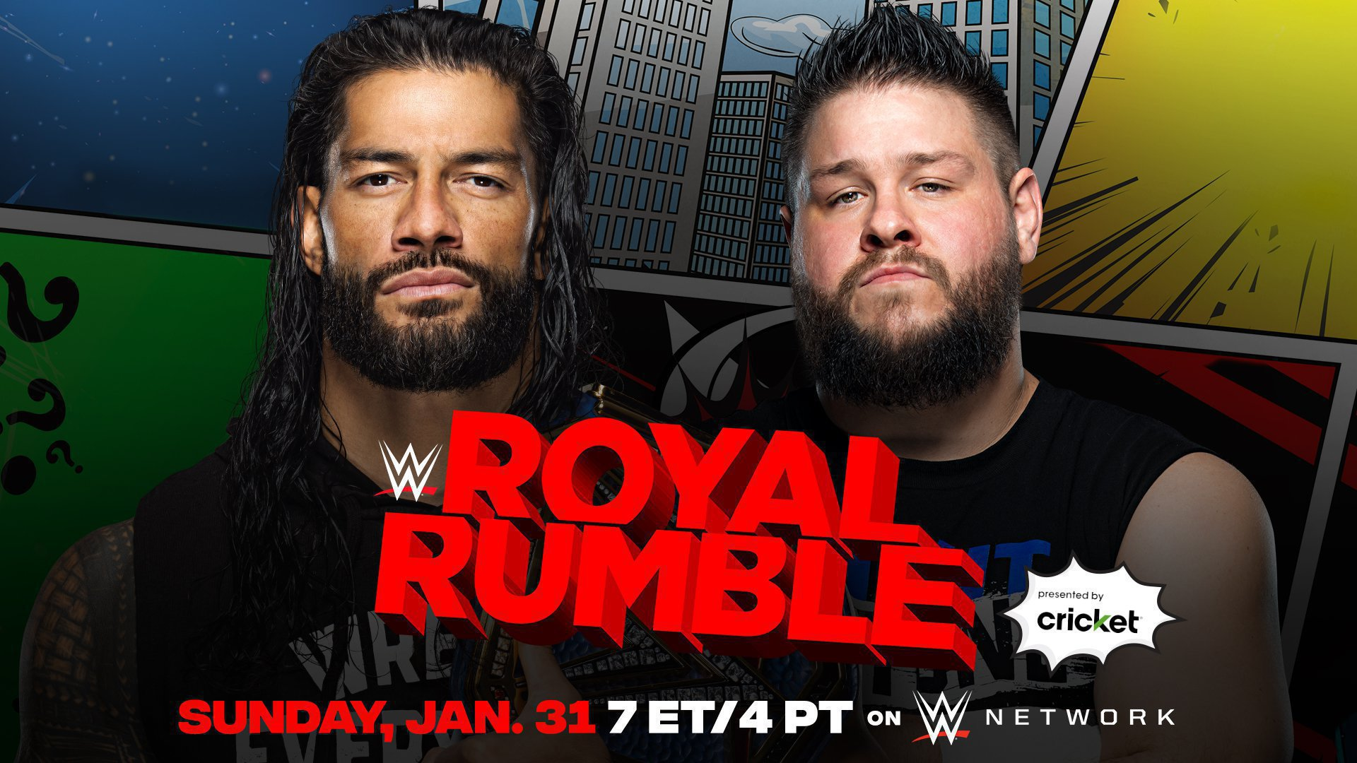 Roman Reigns will defend the Universal Championship against Kevin Owens at the Royal Rumble