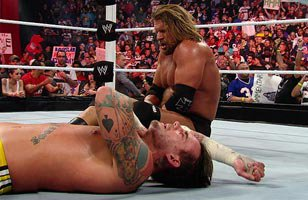 WWE COO Triple H def. CM Punk (No Disqualification Match)
