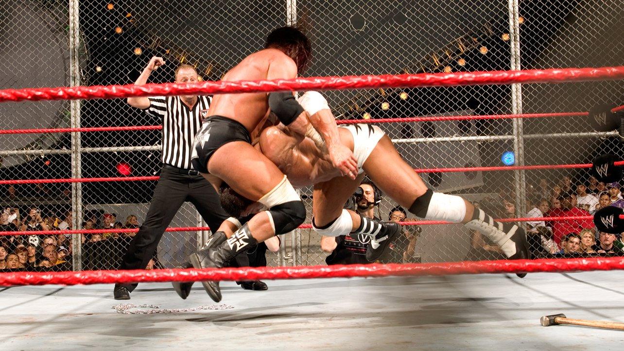 Znalezione obrazy dla zapytania Vengeance 2005 Batista vs. Triple H