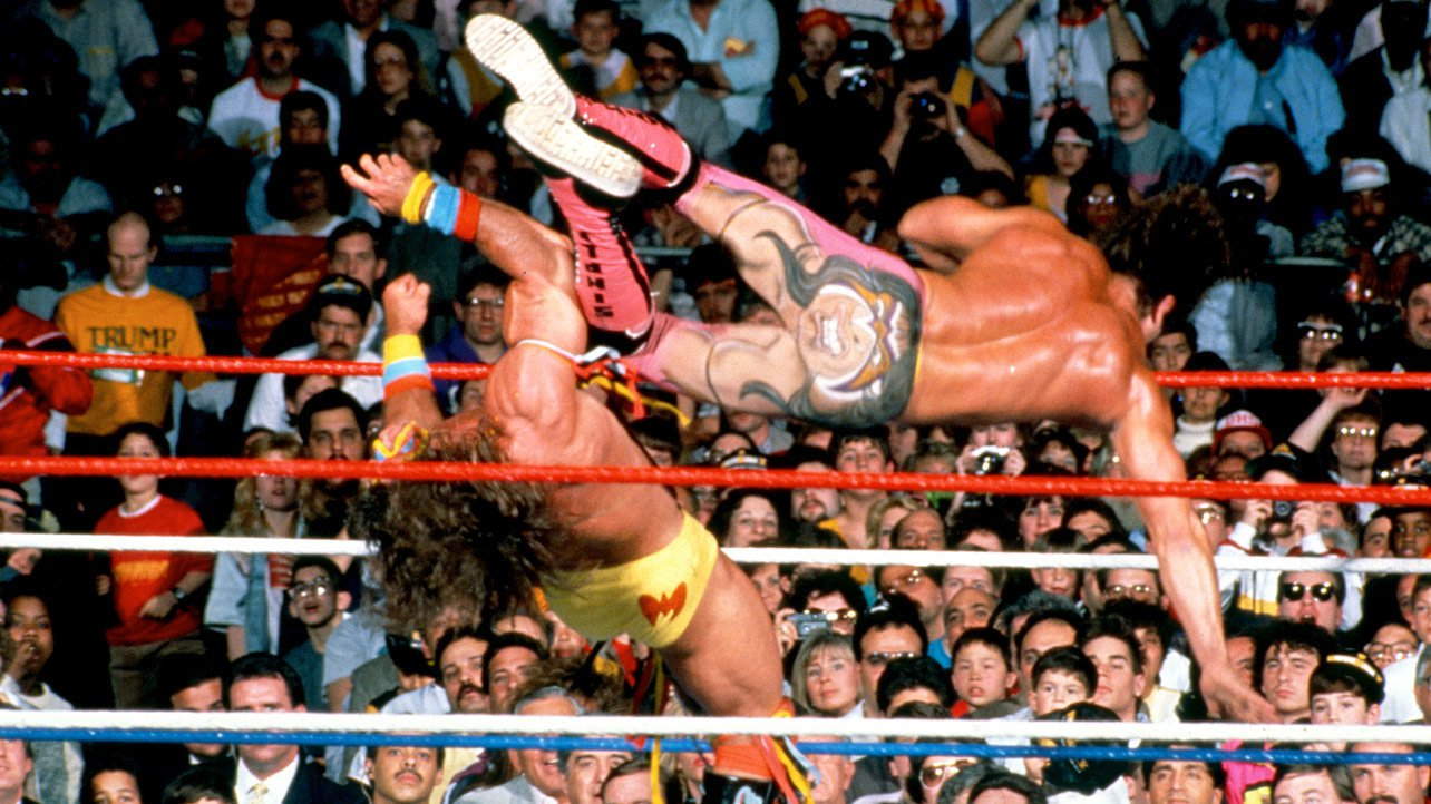Rick Rude airbrushed Ultimate Warrior's likeness onto the backside of his tights at WrestleMania V.