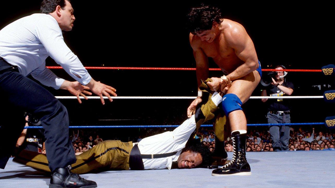 ... until Tito Santana got his hands on him.