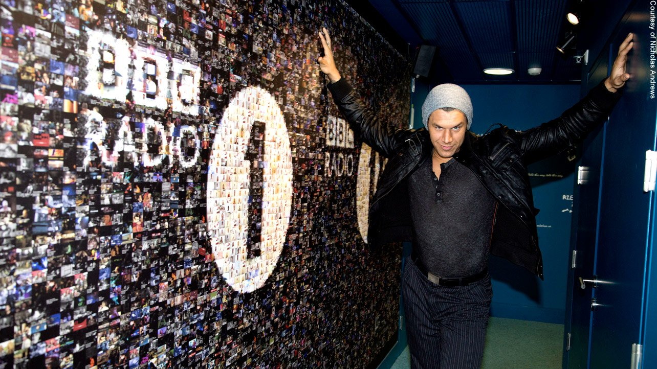 WWE's toe-tapping Superstar graces BBC Radio 1 with his presence.