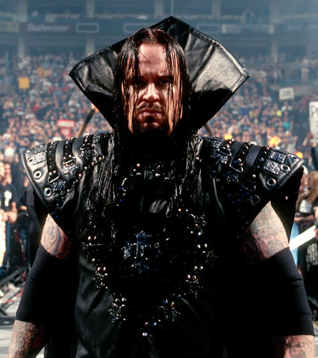 The Undertaker's ring gear was especially eerie when he fought Kane at WrestleMania XIV.