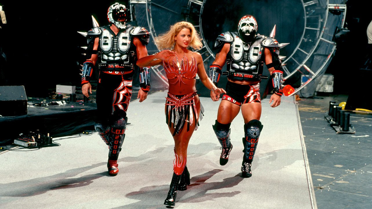 With Sunny by their side, Legion of Doom debuted a new look in 1998 at The Grandest Stage of Them All.