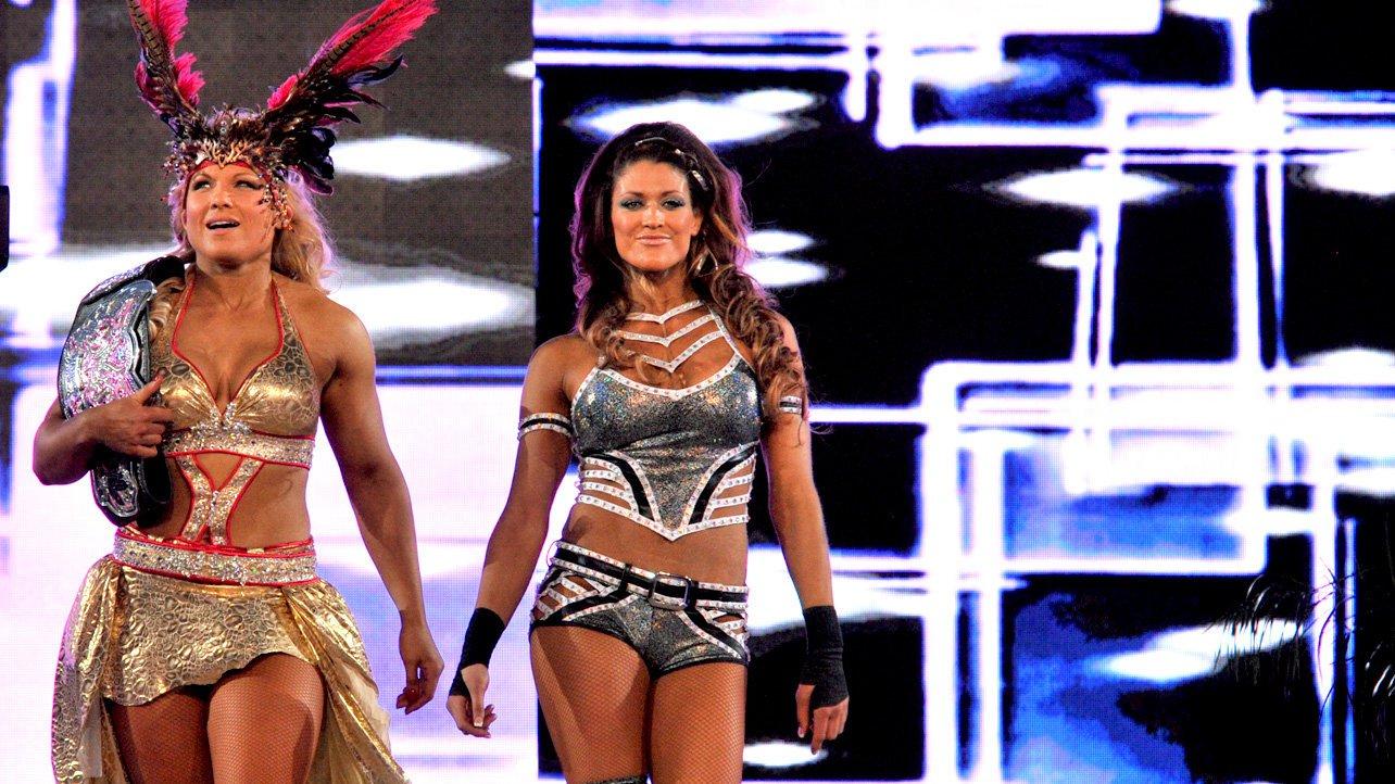 Beth Phoenix upgraded her tiara at WrestleMania XXVIII in Miami.