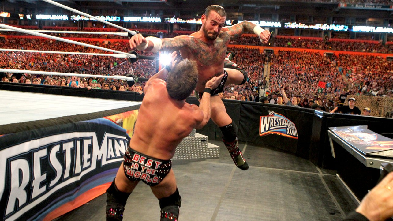 """Chris Jericho's trunks, which read """"Best in the World,"""" taunted CM Punk."""