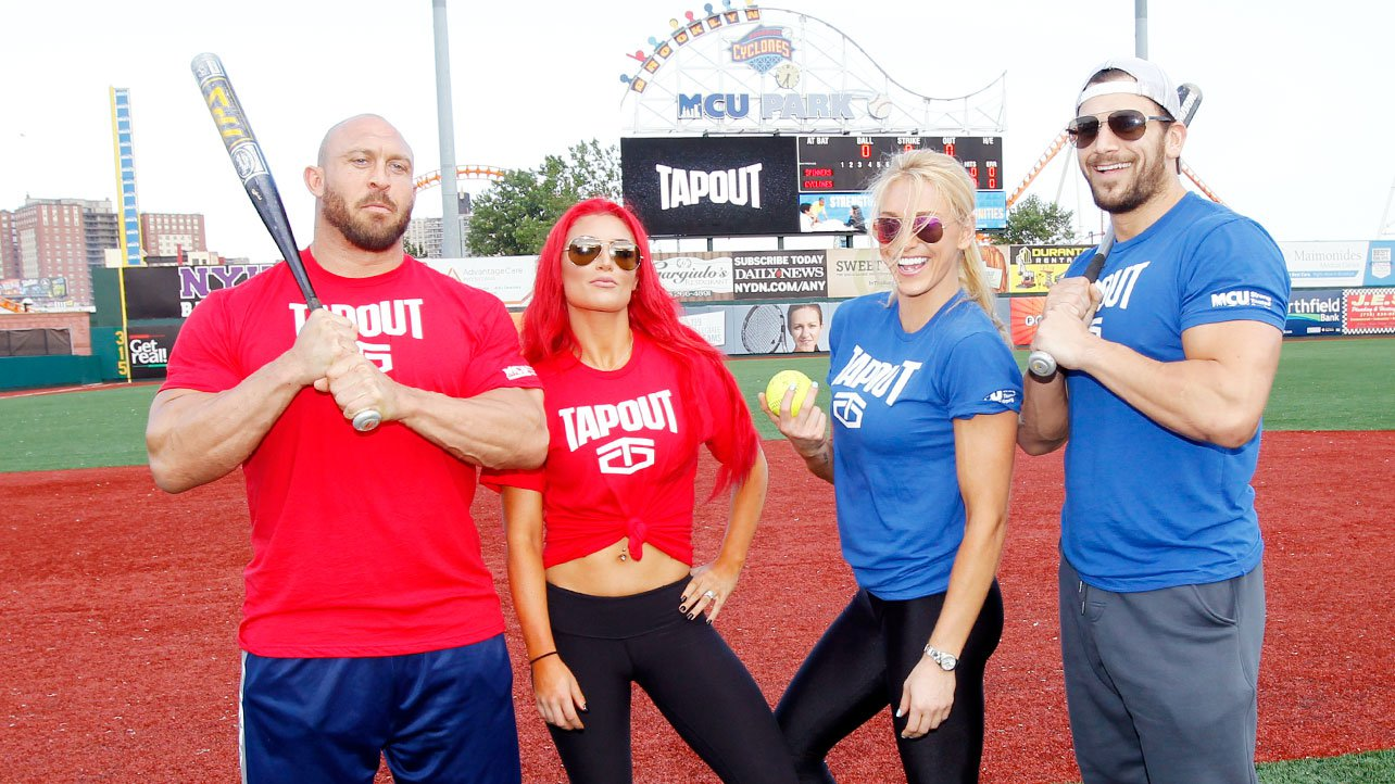 WWE Superstars and Divas compete in a Celebrity Softball ...