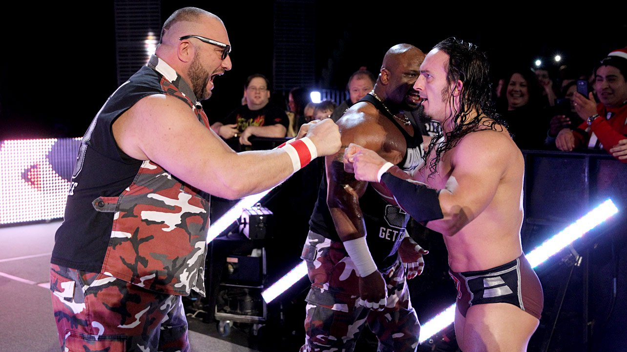 The Dudley Boyz join Neville and are ready for the 5-on-5 Traditional Survivor Series Elimination Match.