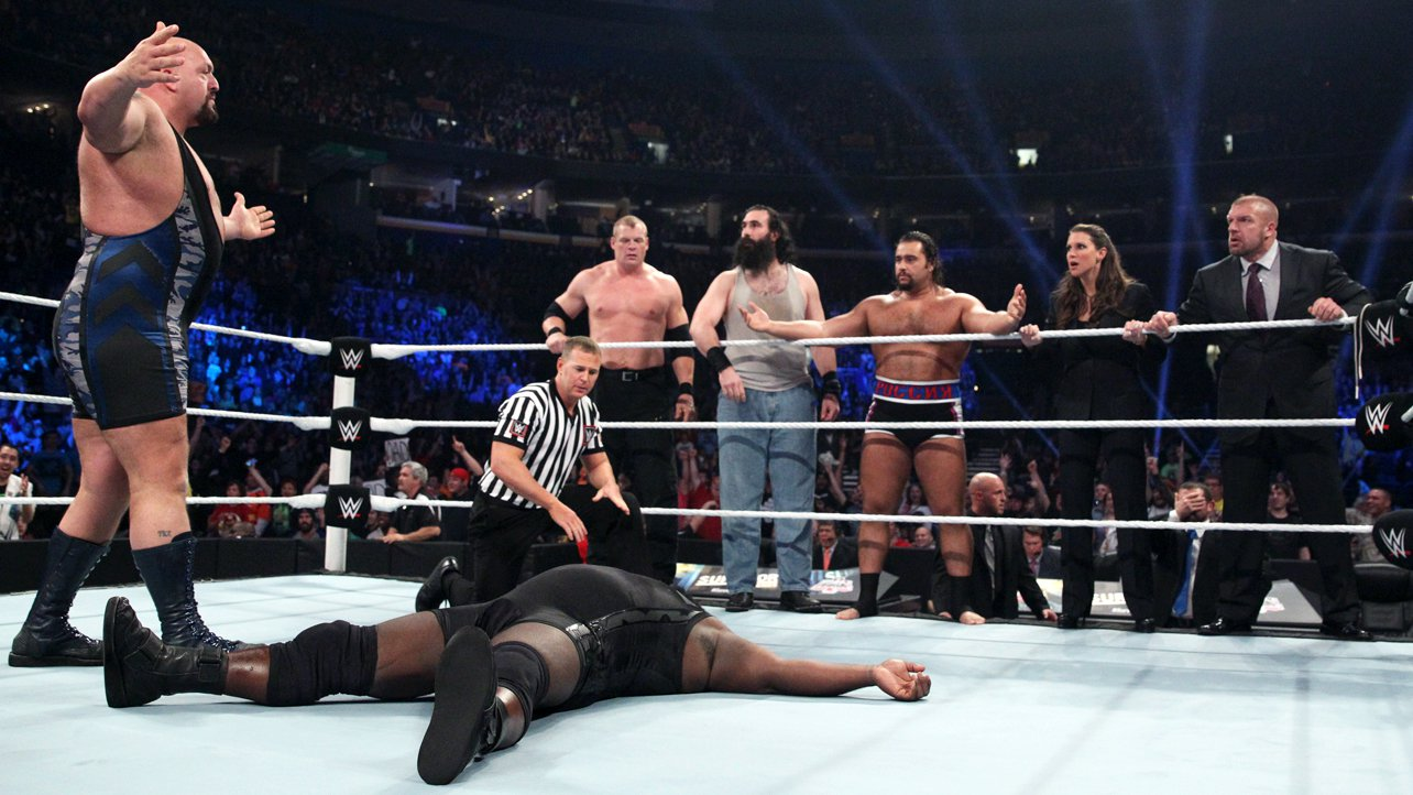 Team Authority (Seth Rollins, Kane, Mark Henry, Rusev & Luke Harper): Survivor Series 2014