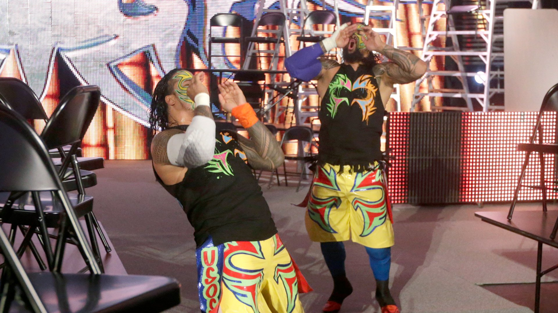 The Usos ignite the crowd as they vie to become three-time WWE Tag Team Champions.