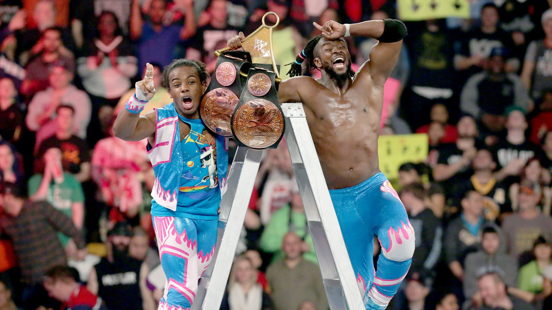 "The New Day celebrates a ""magical"" victory at WWE TLC."