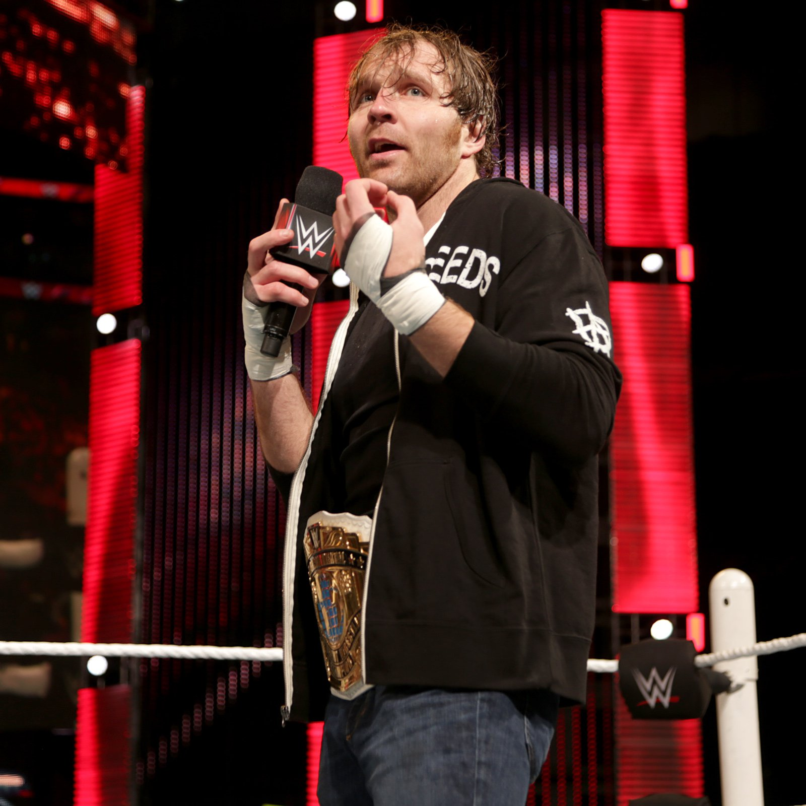 Dean Ambrose kicks off Raw, and he's looking for a fight.
