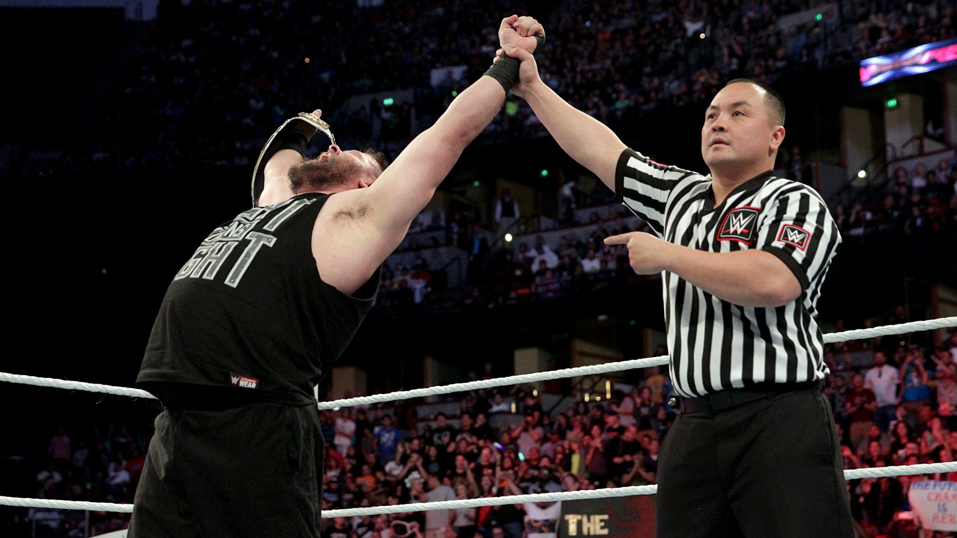 Owens clinches his second Intercontinental Championship.