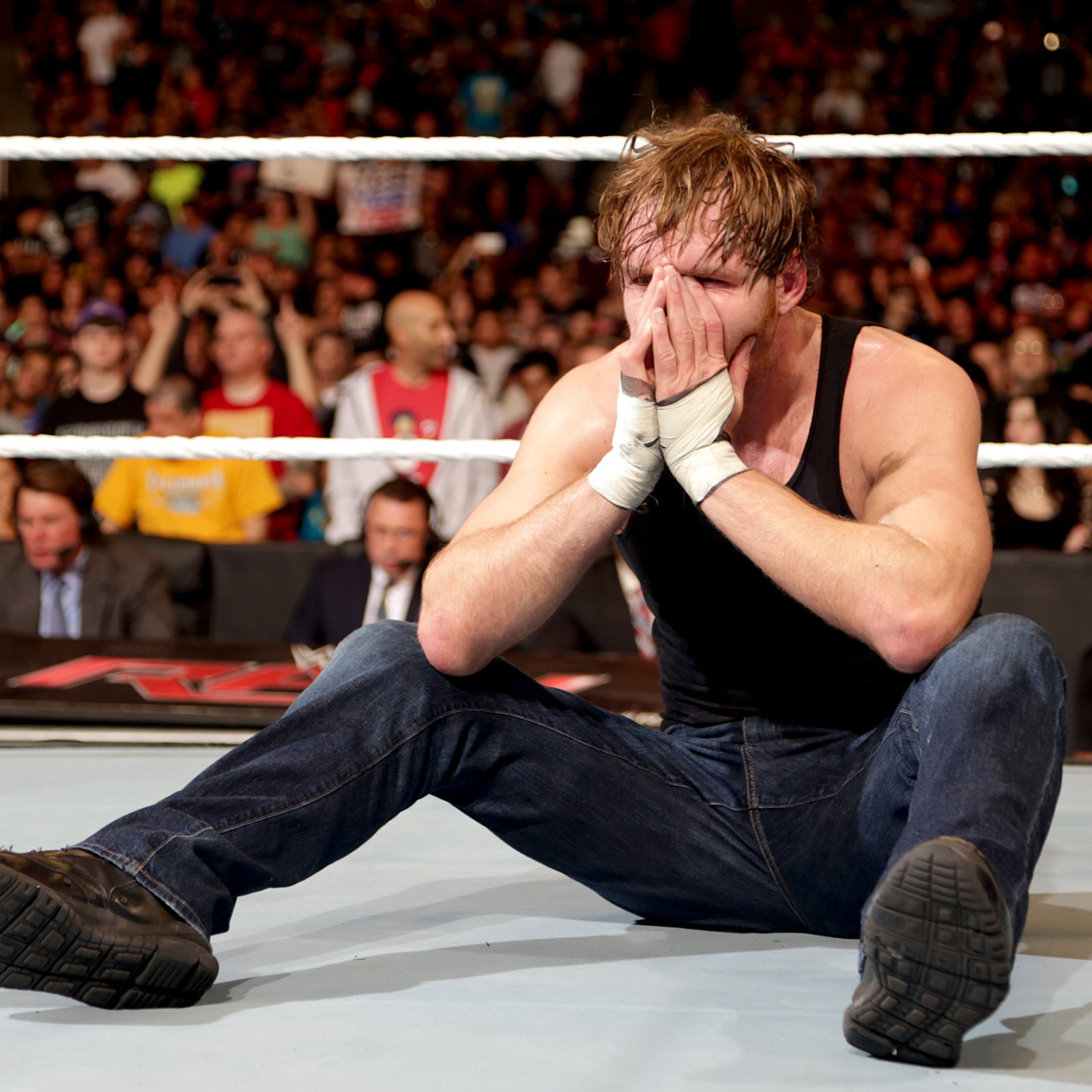 Ambrose cannot believe the title is gone from his waist.