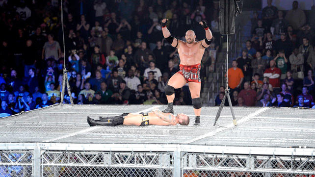 ryback vs cm punk wwe championship match inside hell in a cell photos. Black Bedroom Furniture Sets. Home Design Ideas