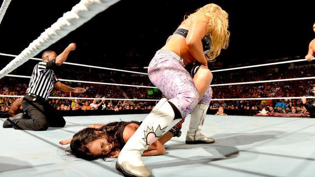 The Great Khali Amp Natalya Vs Big E Langston Amp AJ Lee