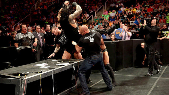 The Shield vs. Evolution WWE Payback contract signing ...