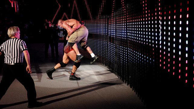 WWE Champion John Cena vs. Ryback ended in a No Contest ...